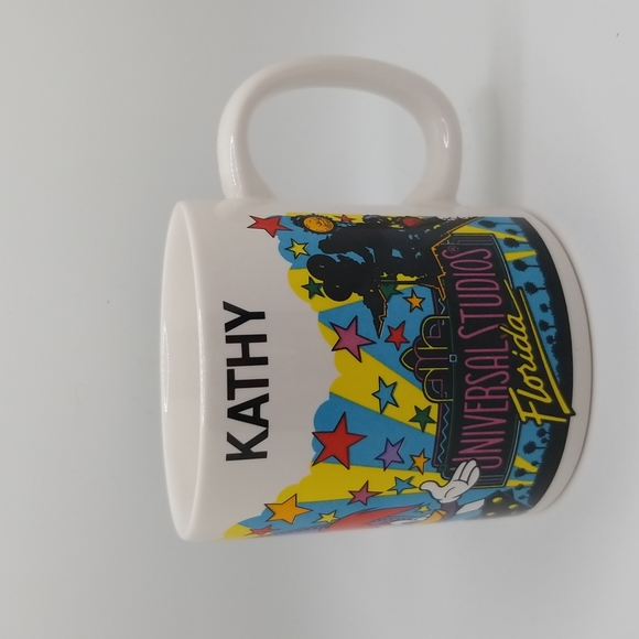 "Vintage 1989 Universal Studios Florida 8 OZ. Ceramic Coffee Tea Cup/Mug ""Kathy"""